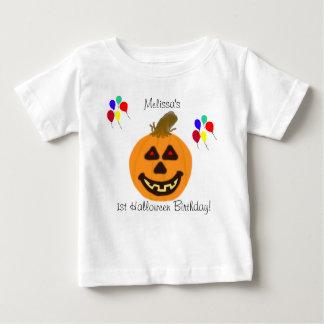 de Pompoen van de Verjaardag van 1st Halloween & Baby T Shirts