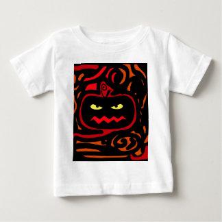 De pompoen van Halloween Baby T Shirts