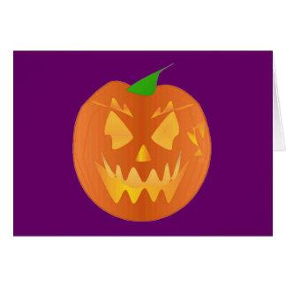 De Pompoen van Halloween in Paarse I