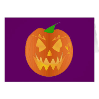 De Pompoen van Halloween in Paarse I Wenskaart