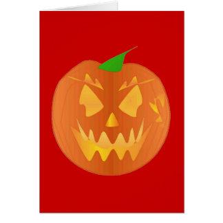 De Pompoen van Halloween in Rood Wenskaart