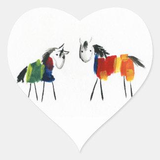 De Poneys van weinig Regenboog Hart Sticker