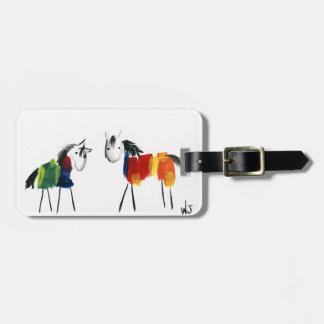De Poneys van weinig Regenboog Kofferlabel