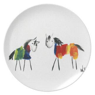 De Poneys van weinig Regenboog Melamine+bord