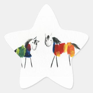 De Poneys van weinig Regenboog Ster Sticker