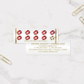 De Ponskaart van de loyaliteit - het Rood Mini Visitekaartjes