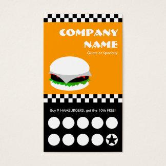 de ponskaart van hamburgercontroleurs visitekaartjes