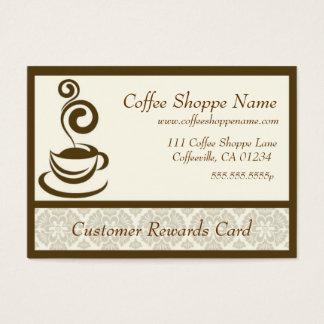 De Ponskaarten van de Opslag van de koffie Visitekaartjes