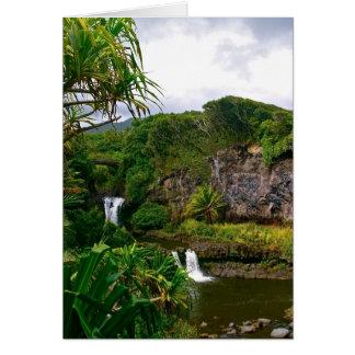 De Pools van het Ravijn van O'heo, Maui Kaart