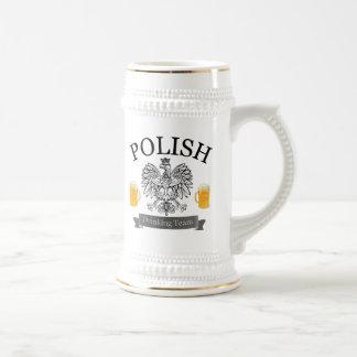 De Poolse het Drink Stenen bierkroes van het Team Bierpul