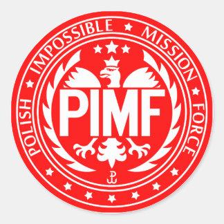 De Poolse Onmogelijke Kracht van de Opdracht Ronde Sticker