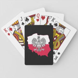 De Poolse Speelkaarten van de Vlag van de Kaart