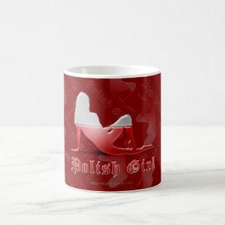 De Poolse Vlag van het Silhouet van het Meisje Koffiemok