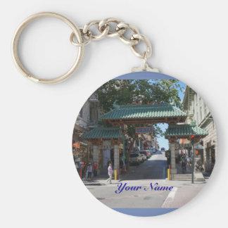 De Poort Keychain van de Chinatown van San Sleutelhanger