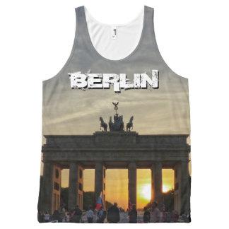 De Poort van Brandenburg, zonsondergang, BERLIJN All-Over-Print Tank Top