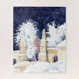 De poort van de winter bij nacht legpuzzel
