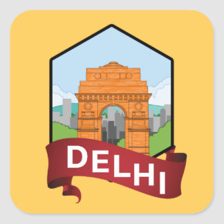 De Poort van Delhi India Vierkante Sticker