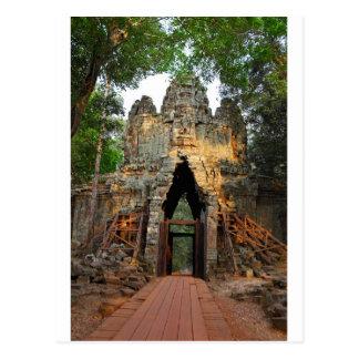 De Poort van het noorden van Angkor Thom, Kambodja Briefkaart