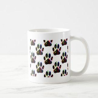 De poot drukt het Patroon van de Wimpel van Koffiemok