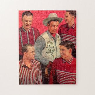 de Poot van de vroege jaren '50cowboy en zijn Puzzel