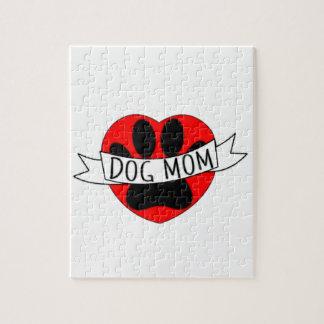 De Poot van het Mamma van de hond en de Rode Legpuzzel