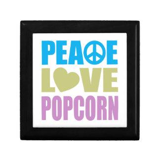 De Popcorn van de Liefde van de vrede Decoratiedoosje