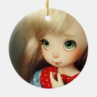 de poppen bjd mooi mooie meisje van het kawaii rond keramisch ornament