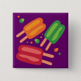 De Poppen van het ijs Vierkante Button 5,1 Cm