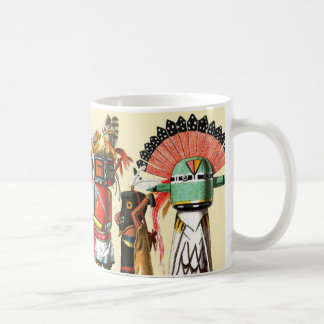 De poppen van Kachina van de Inheemse Amerikaanse  Koffie Bekers