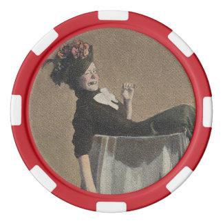 De populaire Vintage Spaanders van de Pook van het Pokerchips