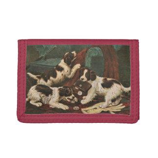 De portefeuille van het Puppy van de zetter Drievoud Portemonnee