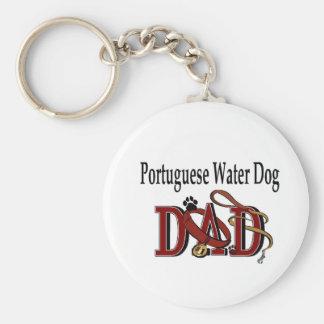De Portugese Giften van de Papa van de Hond van he Basic Ronde Button Sleutelhanger