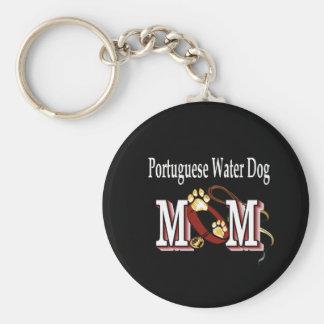 De Portugese Giften van het MAMMA van de Hond van  Basic Ronde Button Sleutelhanger