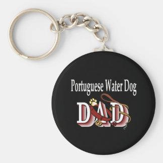de Portugese papa Keychain van de waterhond Basic Ronde Button Sleutelhanger