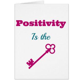 De positiviteit is het Belangrijkste Wenskaart