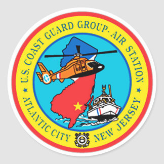 De Post New Jersey van de Lucht van de Groep USCG Ronde Sticker