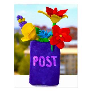 De post van de bloem ostcard briefkaart