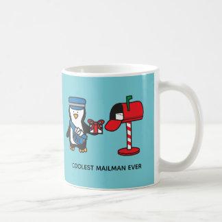 De Post van de brievenbesteller Dame Postal Worker Koffiemok