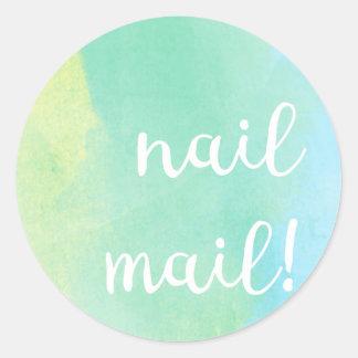 De Post van de spijker! Sticker - bluey groene