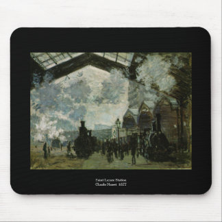 De Post van heilige Lazare door Claude Monet Muismat