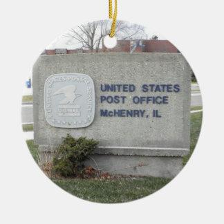 De Post van McHenry weg Rond Keramisch Ornament