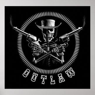De Posters van de Cowboy van het Skelet van de bal
