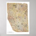 De Posters van de Kaart van de Wereld van Reis van