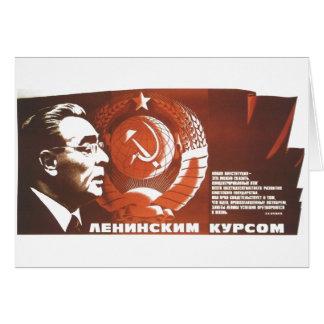 De Posters van de Propaganda van Sovjetunie van de Kaart
