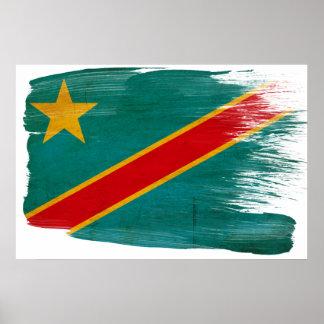 De Posters van de Vlag van de Kongo