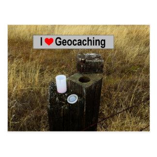 De PostHuid van de omheining: Geocaching Briefkaart