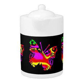 De Pot van de thee: Gekleurde Vlinder, Zwarte