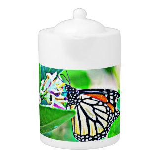 De Pot van de Thee van de Vlinder van de monarch
