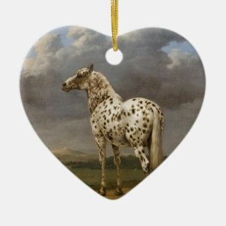 """De Pottenbakker van Paulus - het """"Gevlekte"""" Paard. Keramisch Hart Ornament"""