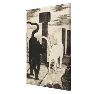 De Praatjes van Edouard Manet ~ Le Rendez-vous des Canvas Afdruk